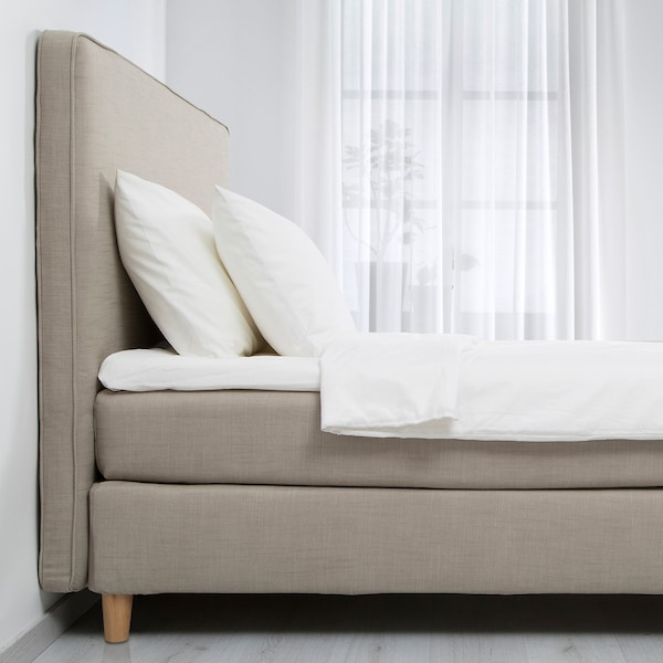 DUNVIK Sommier, Hyllestad rigido/Tustna beige scuro, 180x200 cm