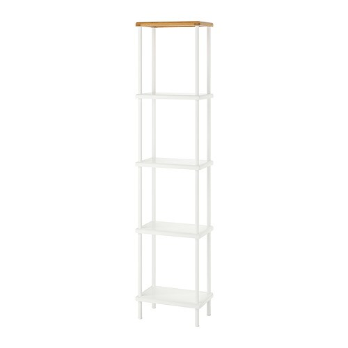 Ikea Scaffali Componibili Acciaio.Dynan Scaffale Bianco Effetto Bambu