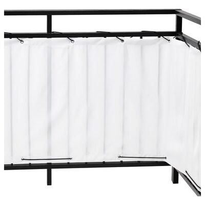 DYNING Separé per balcone, bianco, 250x80 cm
