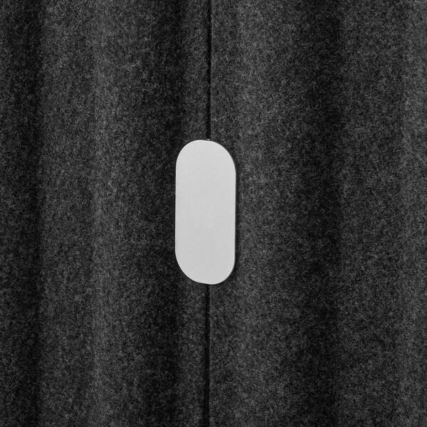 EILIF Paravento freestanding, grigio scuro/bianco, 80x150 cm