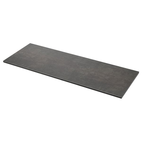 EKBACKEN Piano di lavoro, effetto cemento/laminato, 246x2.8 cm