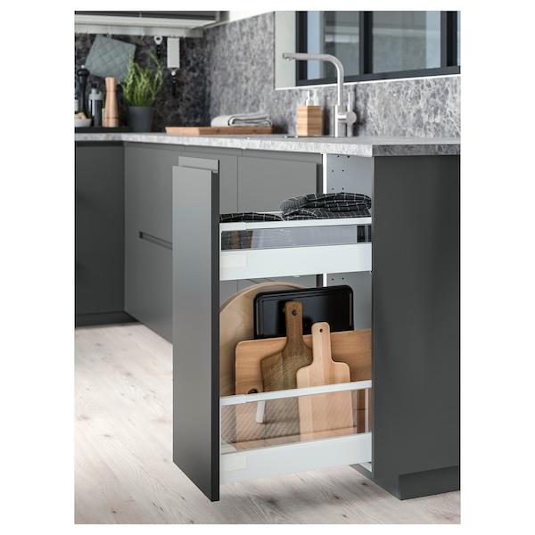 EKBACKEN Piano di lavoro, grigio scuro effetto marmo/laminato, 186x2.8 cm