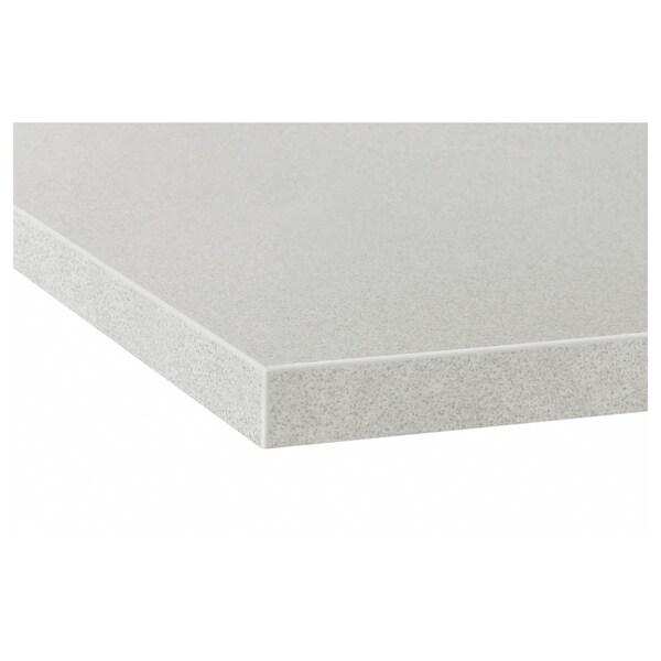 EKBACKEN Piano di lavoro su misura, grigio chiaro effetto pietra/laminato, 45.1-63.5x2.8 cm