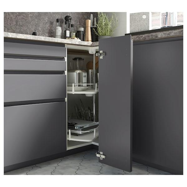 EKBACKEN Piano di lavoro su misura, grigio scuro effetto marmo/laminato, 45.1-63.5x2.8 cm