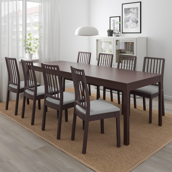 Ikea Tavoli Da Giardino Allungabili.Ekedalen Tavolo Allungabile Marrone Scuro Ikea Svizzera