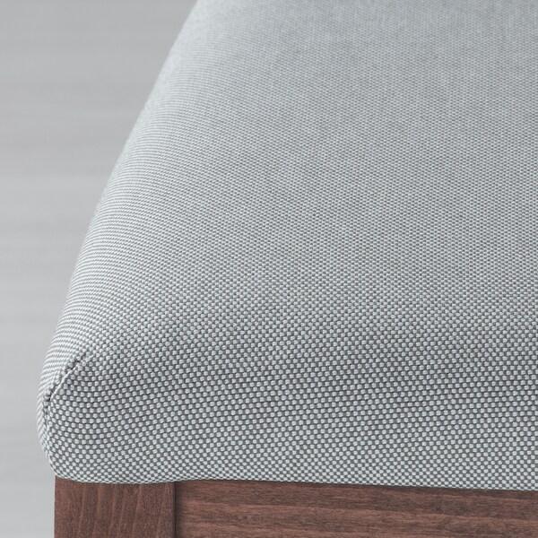 EKEDALEN Sedia, marrone/Orrsta grigio chiaro