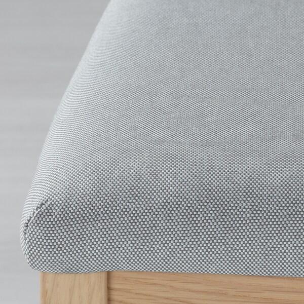 EKEDALEN Sedia, rovere/Orrsta grigio chiaro