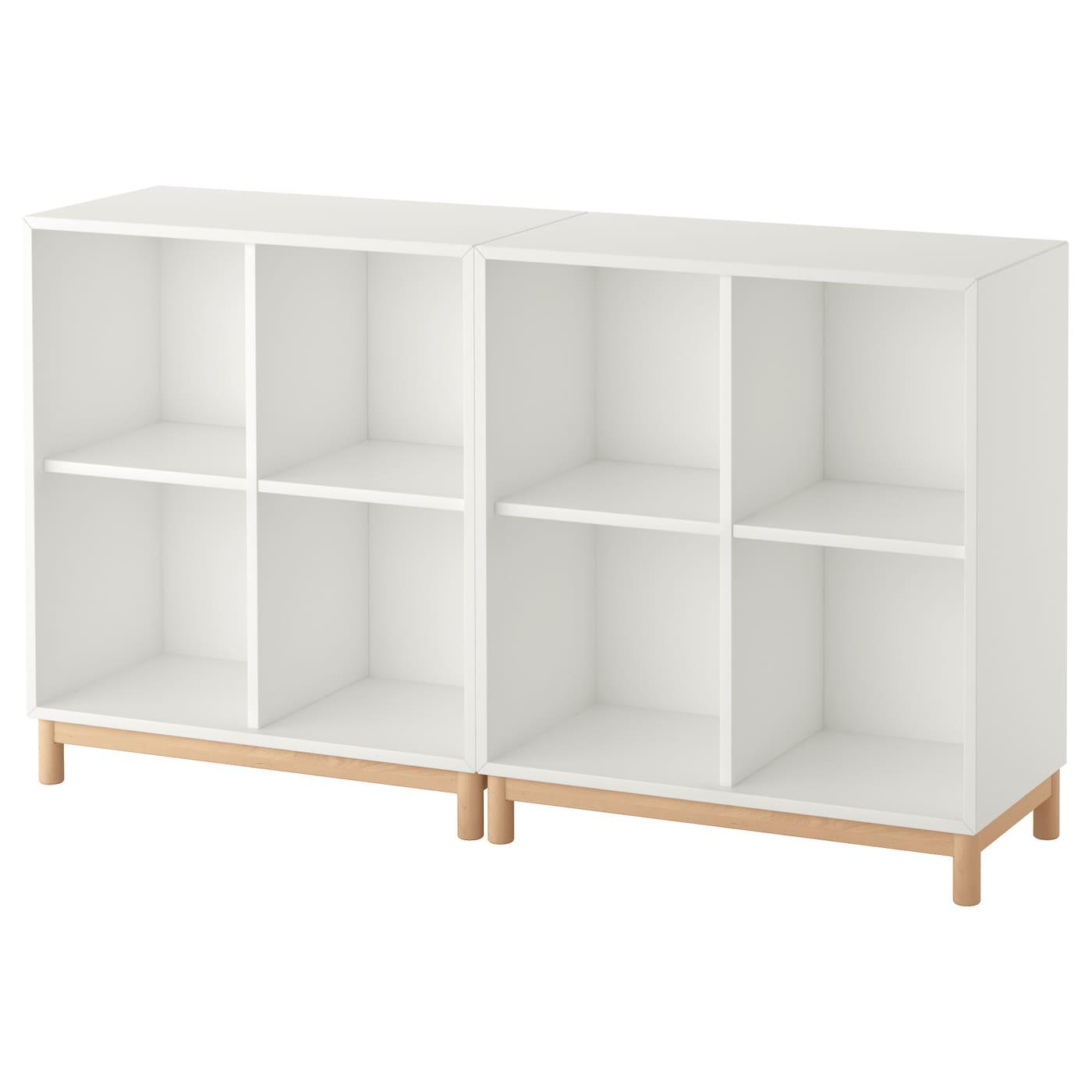Gambe Per Mobili Ikea 140x35x80 cm bianco ikea eket combinazione di mobili con