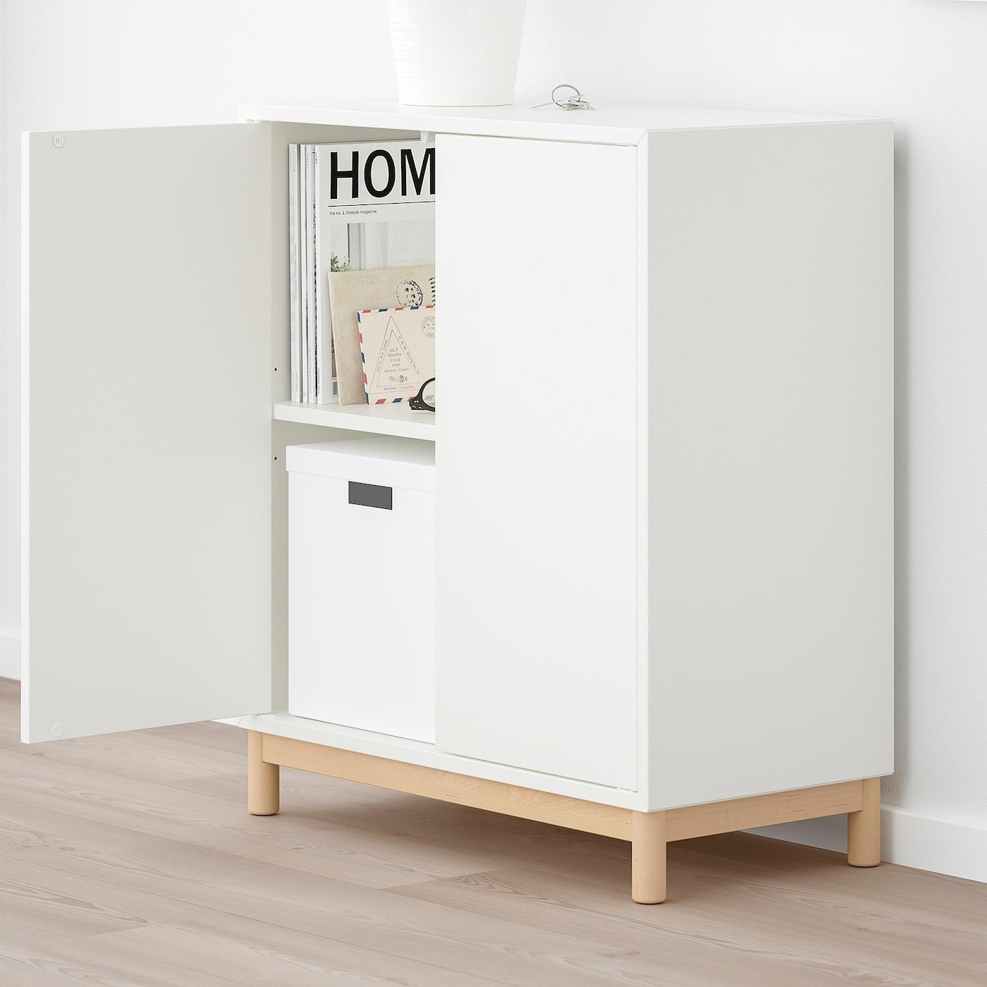 Gambe Per Mobili Ikea eket combinazione di mobili con gambe - bianco 70x35x80 cm