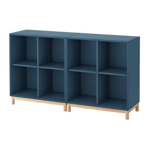 Eket combinazione di mobili con gambe blu scuro ikea for Gambe per mobili ikea