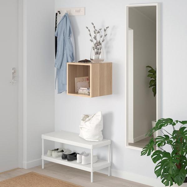 EKET scaffale da parete effetto rovere con mordente bianco 35 cm 35 cm 35 cm