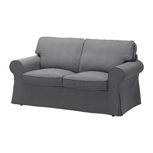 Ektorp divano a 2 posti nordvalla grigio scuro ikea for Divano ektorp ikea