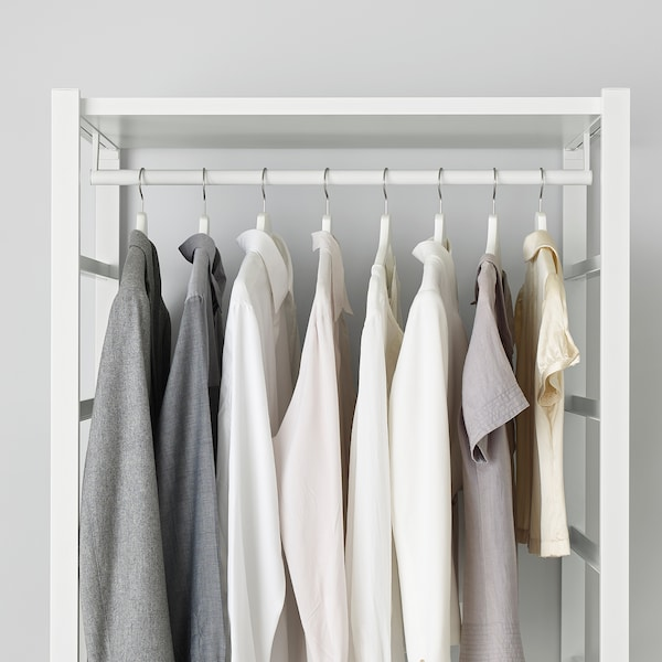ELVARLI Combinazione di guardaroba, bianco, 205x55x216 cm