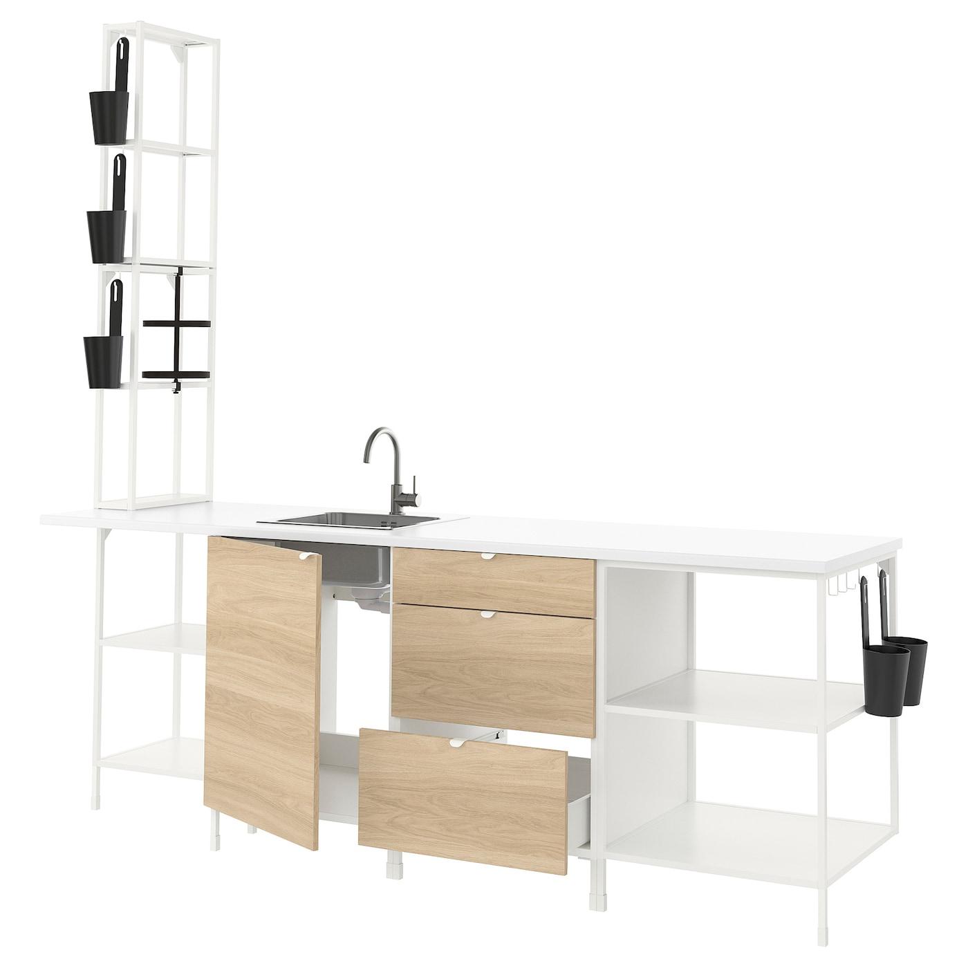 ENHET Cucina - bianco/effetto rovere - IKEA Svizzera
