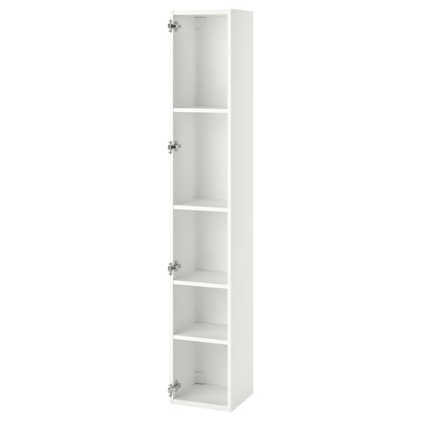 ENHET Mobile alto con 4 ripiani, bianco, 30x30x180 cm