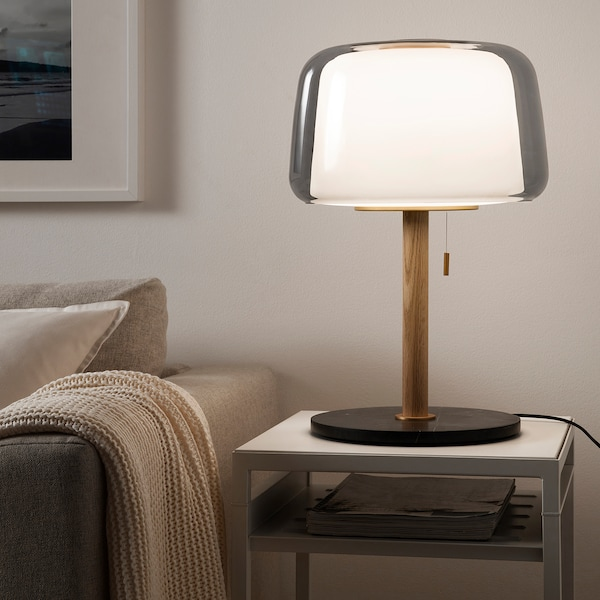 Evedal Lampada Da Tavolo Marmo Grigio Ikea Svizzera