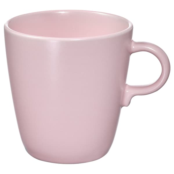 FÄRGKLAR Tazza, opaco rosa pallido, 37 cl