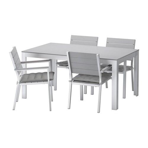 Falster tavolo 4 sedie braccioli giardino falster - Sedie ikea giardino ...