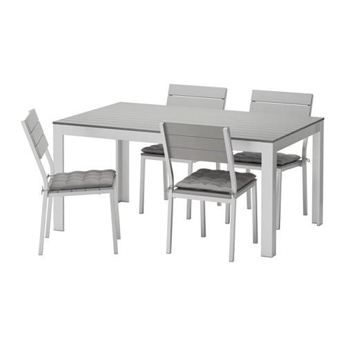 Falster tavolo 4 sedie da giardino falster grigio h ll - Sedie ikea giardino ...