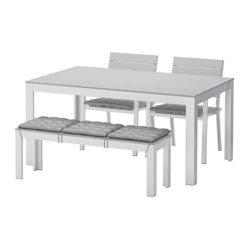 Falster tavolo 2 sedie panca da giardino falster grigio - Panca giardino ikea ...