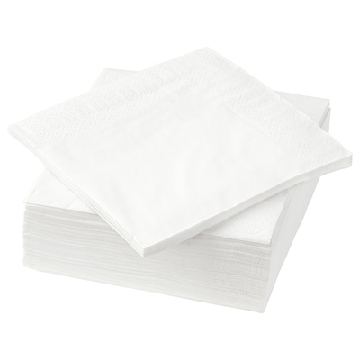 FANTASTISK Tovagliolo di carta, bianco, 24x24 cm