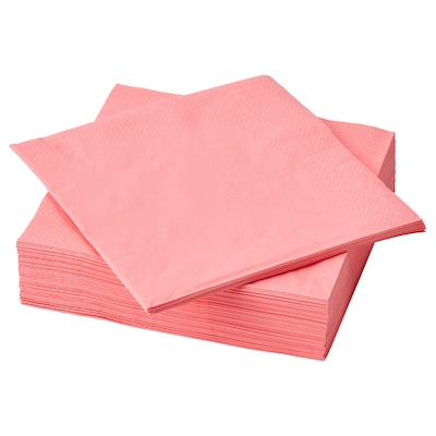 FANTASTISK Tovagliolo di carta, rosso chiaro-rosa, 40x40 cm