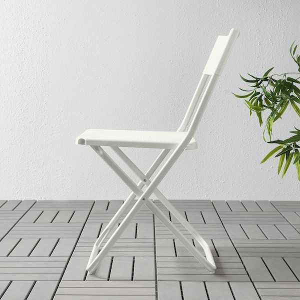 FEJAN Sedia da giardino, pieghevole bianco