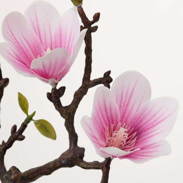 FEJKA Pianta artificiale con vaso, da interno/esterno/Magnolia rosa, 9 cm