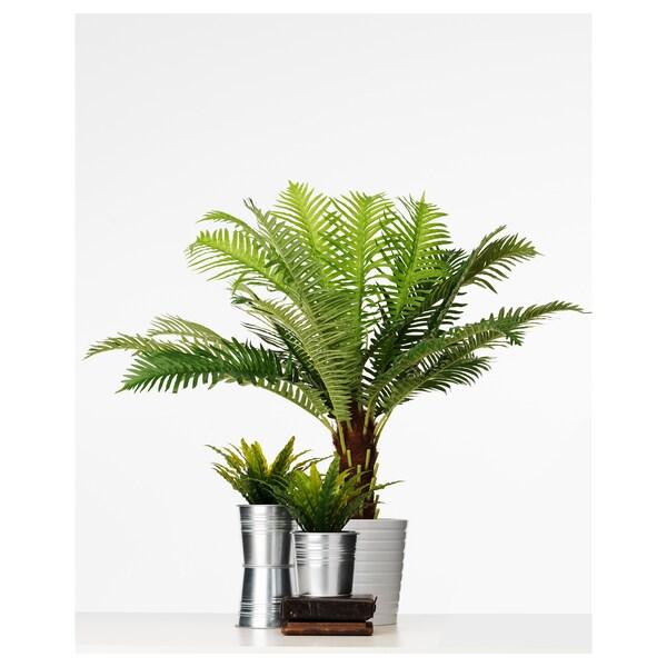 FEJKA Pianta artificiale con vaso, da interno/esterno palma a felce, 17 cm