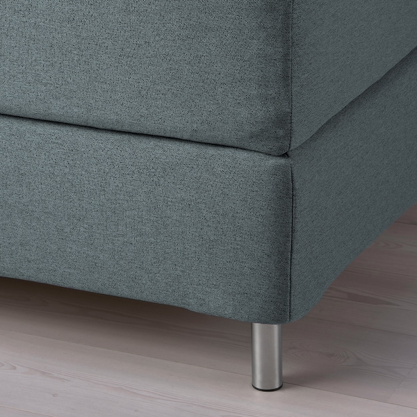 FINNSNES Sommier, Hyllestad rigido/Tussöy grigio, 140x200 cm