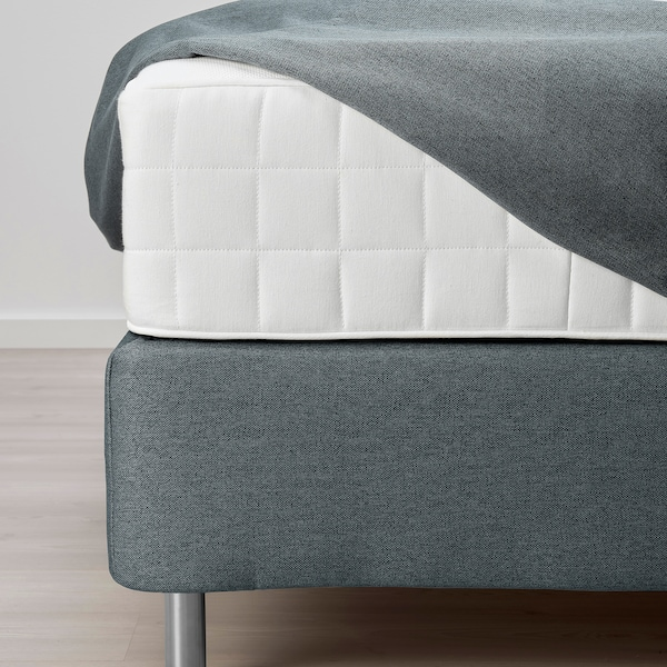 FINNSNES Sommier, Hyllestad semirigido/Tussöy grigio, 180x200 cm