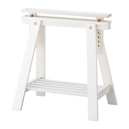 FINNVARD Cavalletto con ripiano - bianco - IKEA