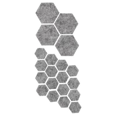 FIXA set di 20 feltrini adesivi grigio