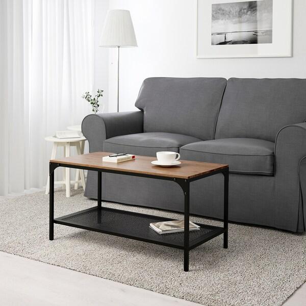 FJÄLLBO Tavolino, nero, 90x46 cm