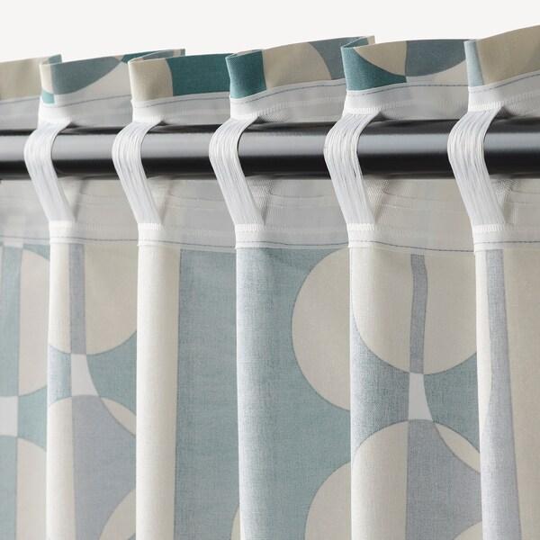 FJÄLLMÄTARE Tenda, 2 teli, beige/blu, 145x300 cm