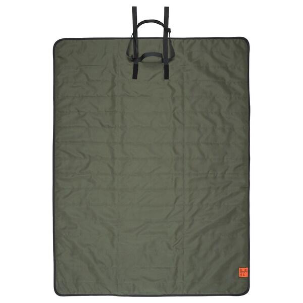FJÄLLMOTT Coperta per picnic, verde intenso/nero, 130x170 cm