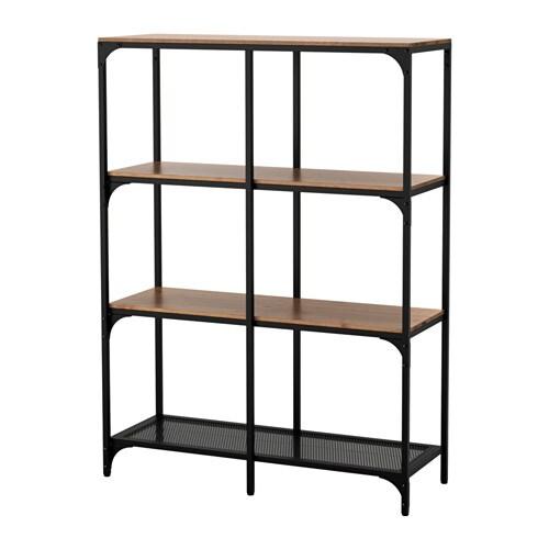 Ikea Scaffalature In Metallo.Fjallbo Scaffale Nero