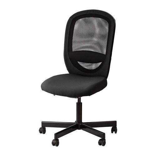 Sedie Ikea Per Ufficio.Flintan Sedia Da Ufficio Vissle Nero Ikea
