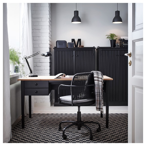 FORSÅ lampada da lavoro nero 40 W 35 cm 15 cm 12 cm 1.8 m