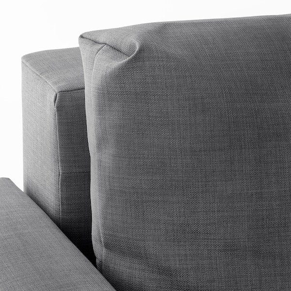 FRIHETEN Divano letto angolare/contenitore, Skiftebo grigio scuro