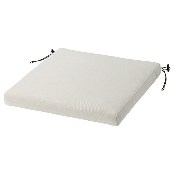 FRÖSÖN/DUVHOLMEN Cuscino per sedia da esterno, beige, 44x44 cm