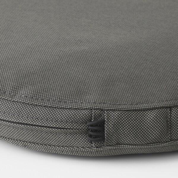 FRÖSÖN/DUVHOLMEN Cuscino per sedia da esterno, grigio scuro, 35 cm