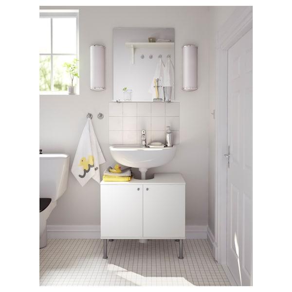 FULLEN Mobile base per lavabo con 2 ante, bianco, 60x55 cm