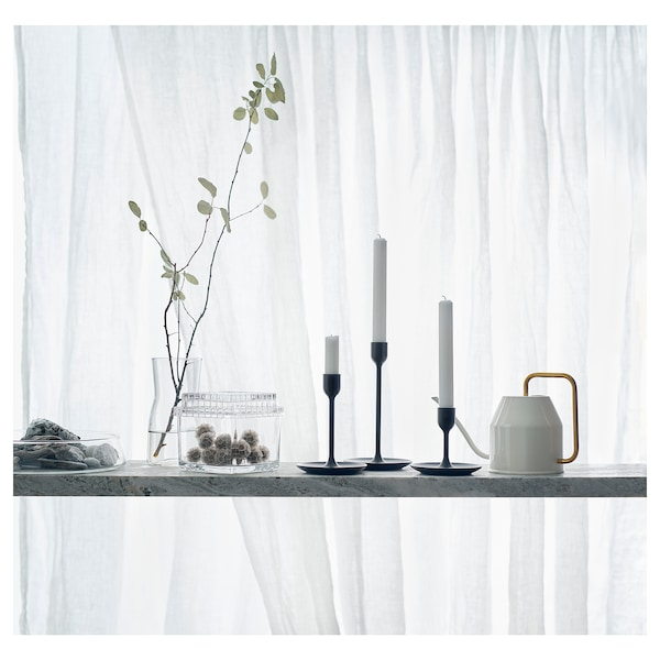 FULLTALIG Set di 3 candelieri, nero