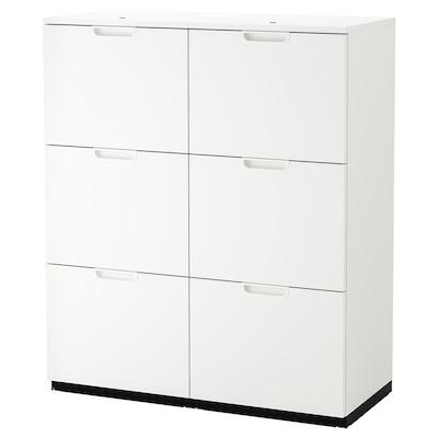 GALANT Combinazione con portadocumenti, bianco, 102x120 cm