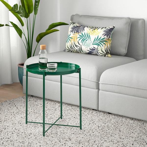 GLADOM Tavolino vassoio, verde, 45x53 cm