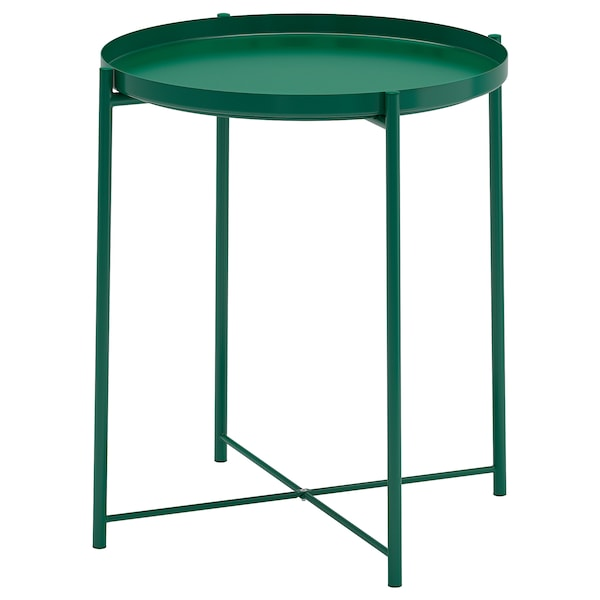 GLADOM tavolino vassoio verde 53 cm 45 cm