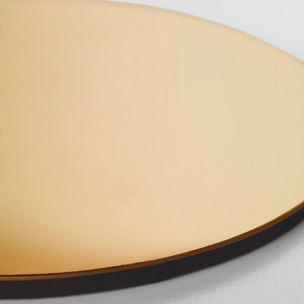 GLATTIS Sottobicchiere con supporto, color ottone, 8.5 cm