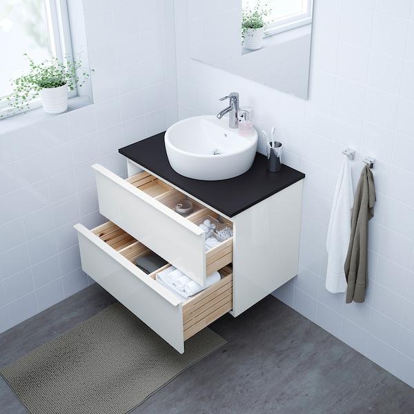 Godmorgon Mobile Per Lavabo Con 2 Cassetti Lucido Bianco 80x47x58 Cm Ikea Svizzera