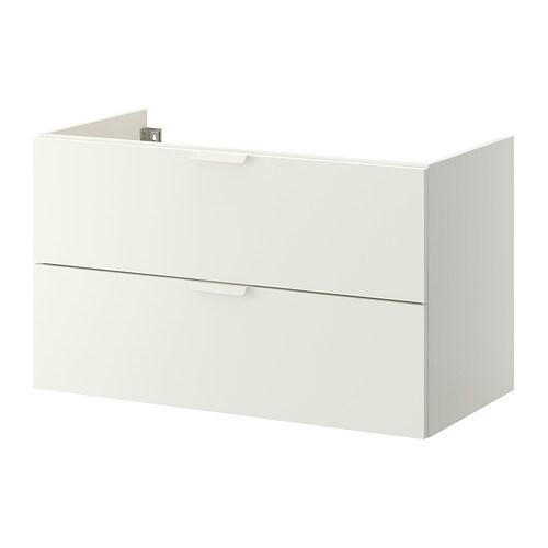 Godmorgon mobile per lavabo con 2 cassetti bianco 100x47x58 cm ikea - Ikea mobili bagno godmorgon ...
